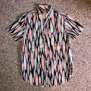 GAP Men's Patterned Button Down Shirt